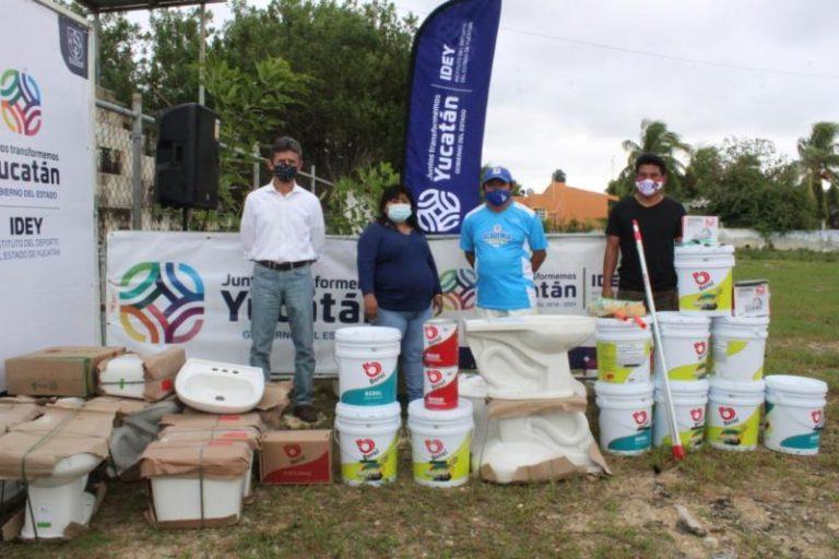 Mejoran los espacios para el deporte en Yucatán